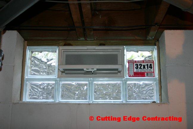 glassblock windows installing glass block windows in a basement